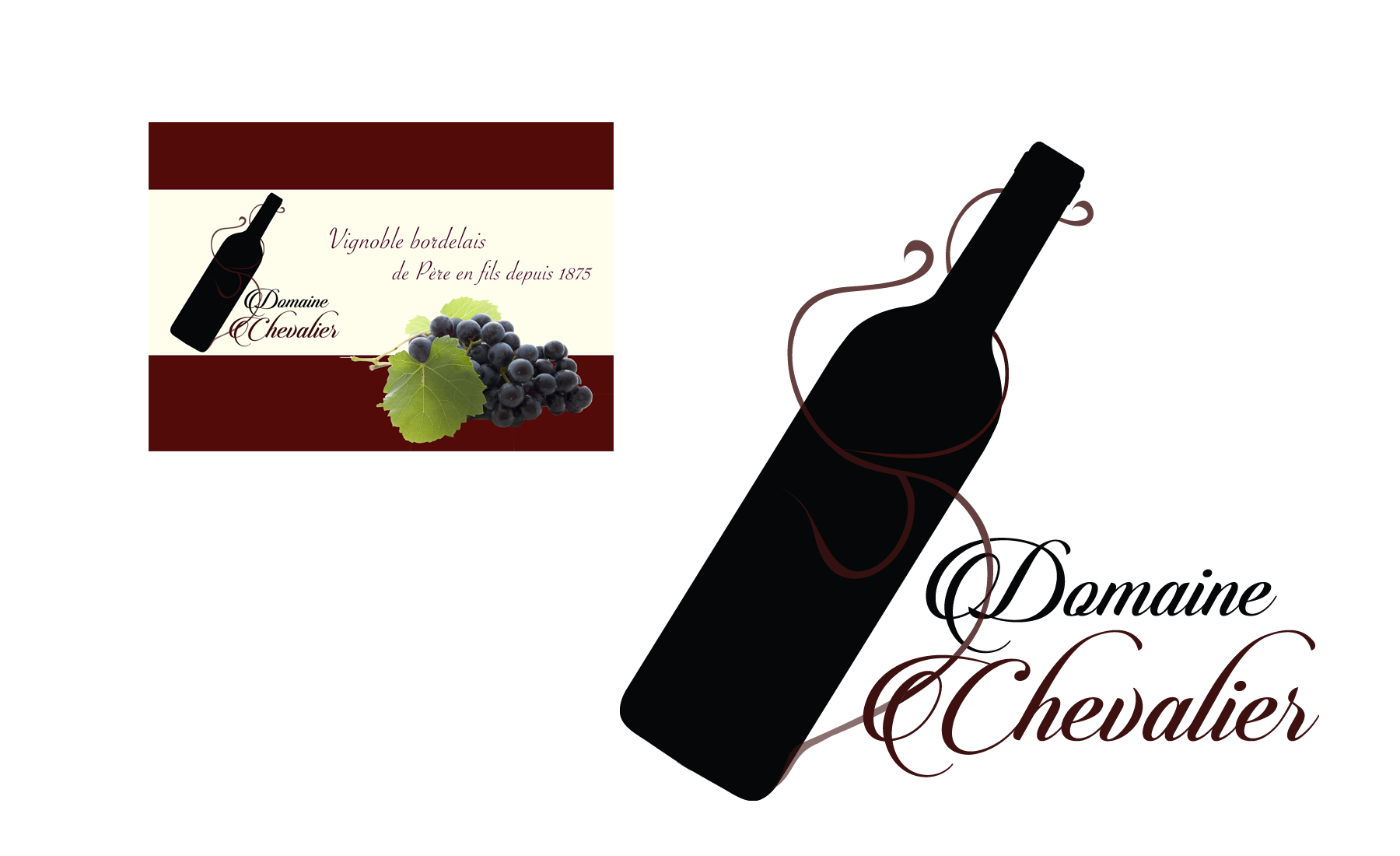 "Chevalier Supports de communication ""Domaine Chevalier"""
