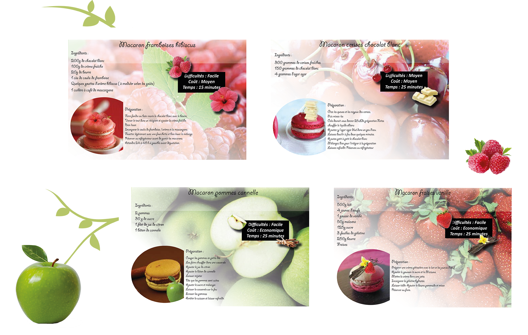 """macarons Livret interactif """"Macarons"""""""