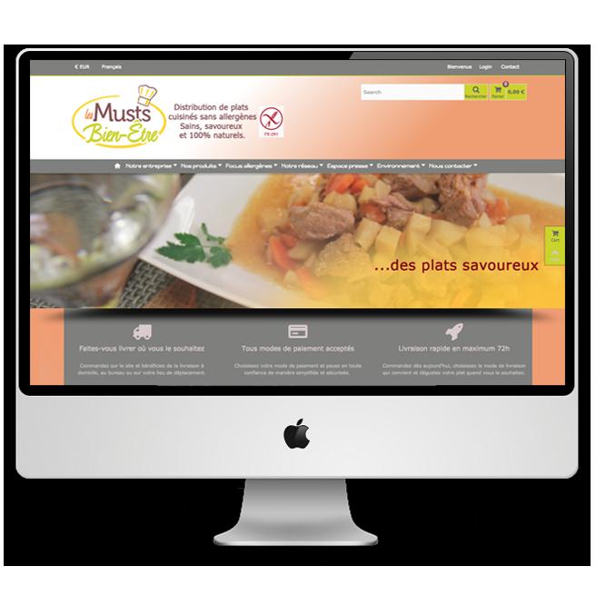 """Lesmustsbienetre Site web e-commerce """"Les Musts bien-être"""""""
